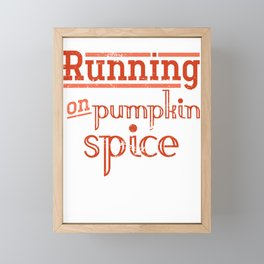 Running Pumpkin Spice Framed Mini Art Print