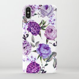 Elegant Girly Violet Lilac Purple Flowers iPhone Case