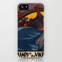 Vintage poster - Scandinavia iPhone Case