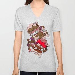 Chocolate Valentine Red Human Slugs Unisex V-Neck