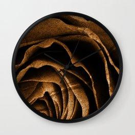 Sepia Grunge Rose Wall Clock