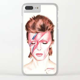 David Bowie. Aladdin Sane. Album Cover. Watercolor painting. Clear iPhone Case