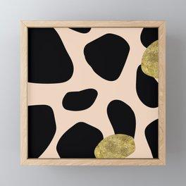 Golden exotics - Cow and soft tangerine Framed Mini Art Print