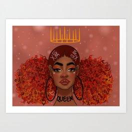 Foxy Fro Art Print