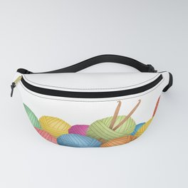 Two Crochet Hooks And A Lot Of Yarn Fanny Pack