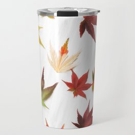 AUTUMN LEAVES PATTERN #2 #decor #art #society6 Travel Mug