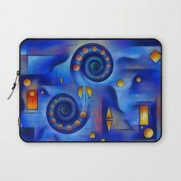 Grefenorium - blue spiral world Laptop Sleeve