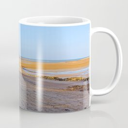 secluded beach at low tide Coffee Mug