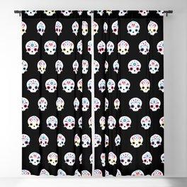 Cute sugar skulls B Blackout Curtain