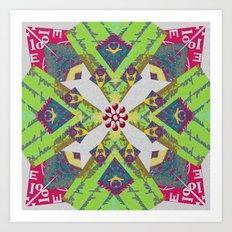 Internal Kaleidoscopic Daze- 6 Art Print