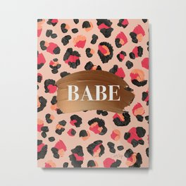 Babe – Hot Pink Leopard Print Metal Print