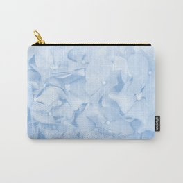 Hydrangea Flowers in Pastel Blue Color #decor #society6 Carry-All Pouch