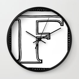 F is for Fuck Wall Clock