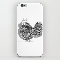 funky iPhone & iPod Skins featuring Zentangle  Illustration - Funky Chicken by Vermont Greetings