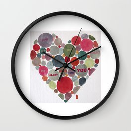 VALENTINE, my heart beats for you Wall Clock