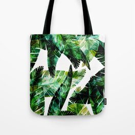 Green leaves of a banana. 2 Tote Bag