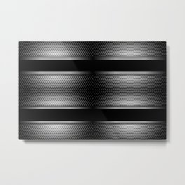 Carbon Stripe Honeycomb Pattern Metal Print