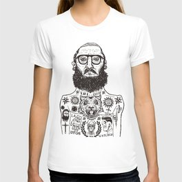 INK AND BEARD RULES T-shirt