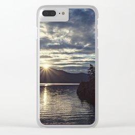 idaho lake sunset Clear iPhone Case