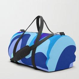 Retro Waves 1 (Blues) Duffle Bag
