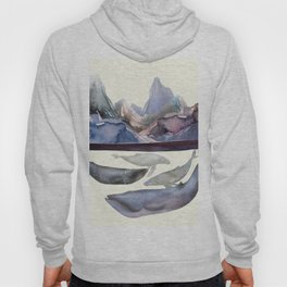 Whales Swiming under the Moutains Hoody