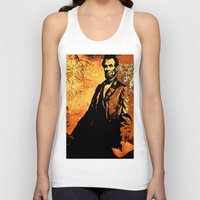 lincoln Tank Tops featuring Abraham Lincoln by Saundra Myles