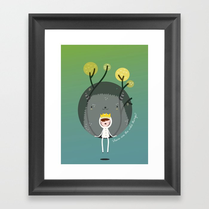 Where are the wild things? Framed Art Print