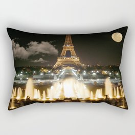 Eiffel Tower at Night Rectangular Pillow