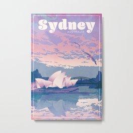 Sydney Australia Travel Poster Metal Print
