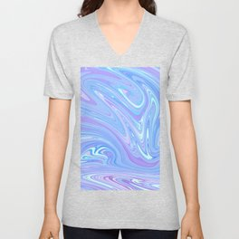 Baby Blue Watercolor Unisex V-Neck