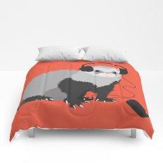 Music Loving Ferret Comforters