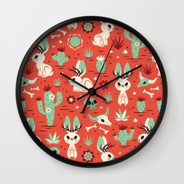 Cryptid Cuties: The Jackalope Wall Clock