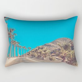Andalusia street with palm trees at sunset. Retro toned Rectangular Pillow