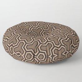 Brown Ys (70's Style) Floor Pillow