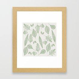 Falling Leaves Pattern I Light Framed Art Print
