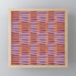 Contemporary Retro Abstract Fibres Pink Orange & Purple Pattern Framed Mini Art Print