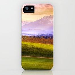 Lonely Tree On Hill Across Mountain Ridge Ultra HD iPhone Case