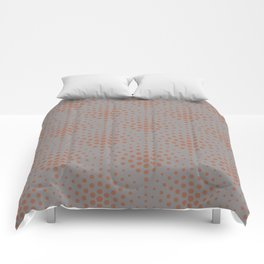 Cavern Clay SW 7701 Polka Dot Scallop Fan Pattern on Slate Violet Gray SW9155 Comforters