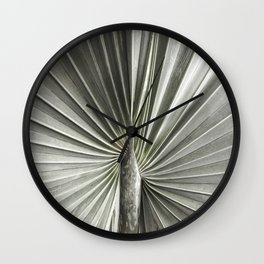 Fan Leaf Palm | Floral | Plant Photography Wall Clock