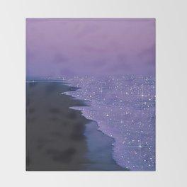 Purple magic Throw Blanket