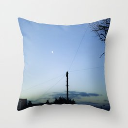 Slingshot the Moon Throw Pillow