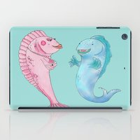 larry iPad Cases featuring Larry and Lola by Catherine Holcombe