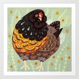 Golden Chicken Art Print
