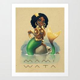 Mami Wata Art Print