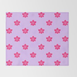 Pink orchid pattern Throw Blanket