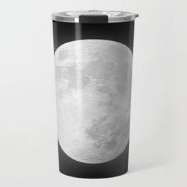 CHALK WHITE MOON Travel Mug