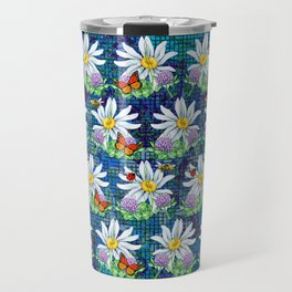 Flowers and bugs pattern Travel Mug