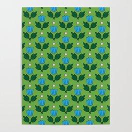Minimal Floral Pattern Poster