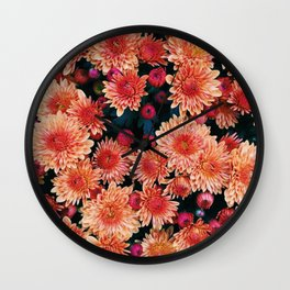 Fall floral Wall Clock