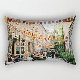 Alley of Street Art Rectangular Pillow